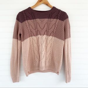 Pink Rose striped ombré sweater